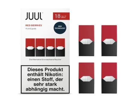 JUUL Red Berries Liquid Pod 18mg Nikotin 0,7ml