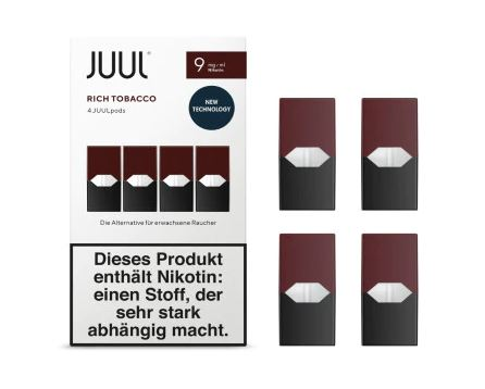 JUUL Rich Tobacco Liquid Pod 9mg Nikotin 0,7ml