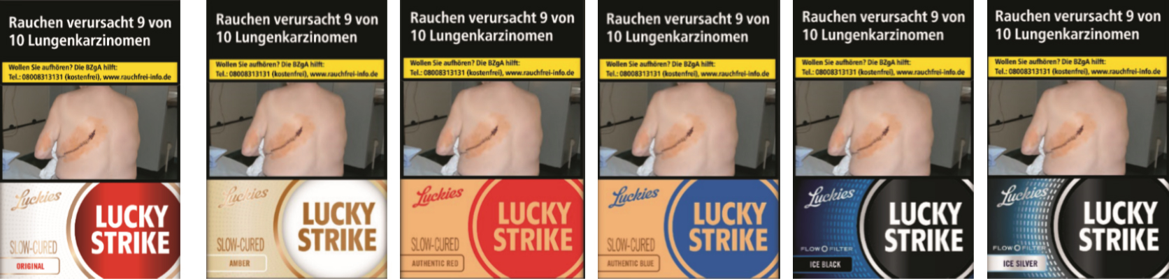 Lucky Strike Luckies im neuen Design