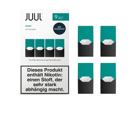JUUL Mint Liquid Pod 9mg Nikotin 0,7ml