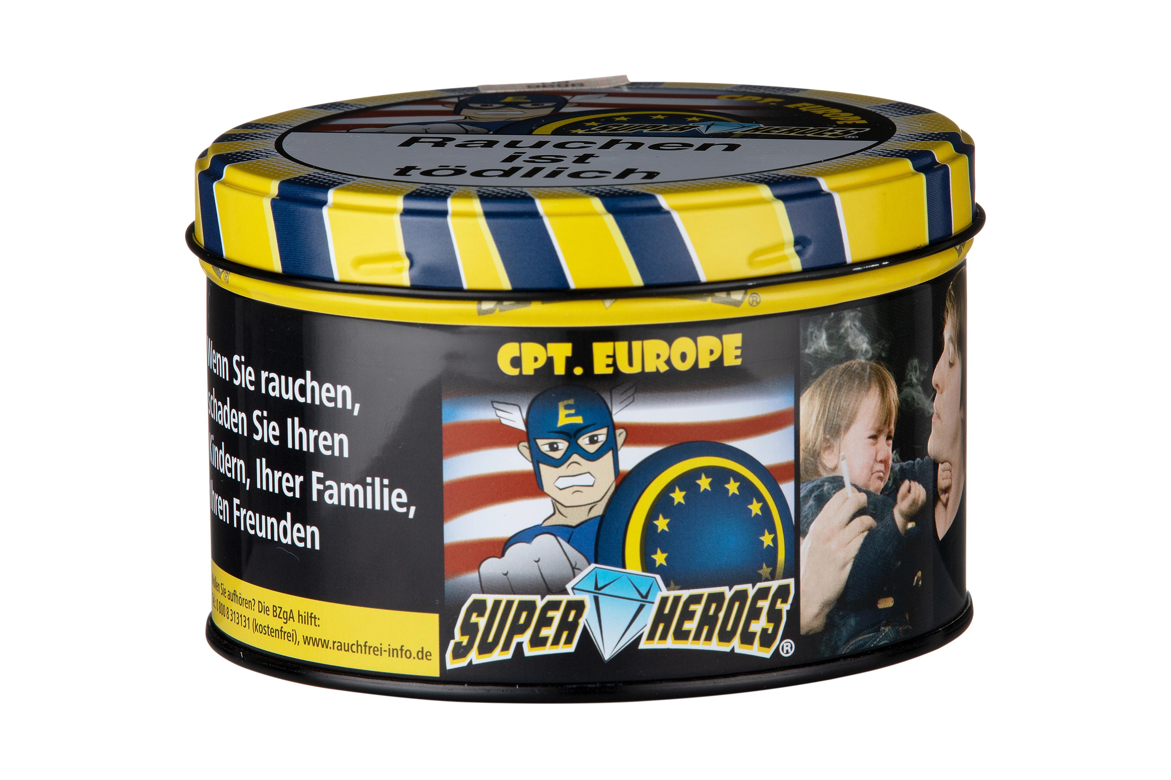 Super Heroes Wasserpfeifentabak Cpt. Europe